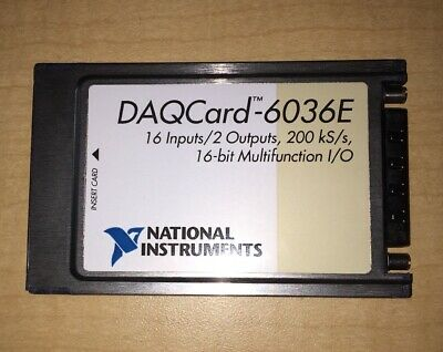 National Instruments DAQCard-6036E NI DAQ Card PCMCIA Analog Input Multifunction