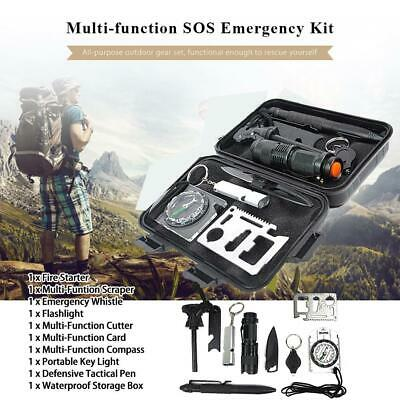 Camping Hiking Emergency SOS Outdoor Sport Tactical Survival Equipment Kit
