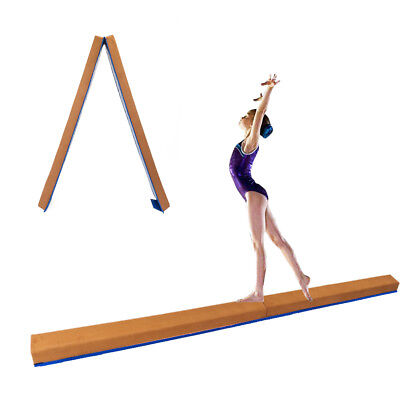 8ft Sectional Balance Beam Young Gymnastic Floor Skill Performance Training Blue
