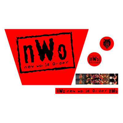 WWF/WWE Mattel Retro NWO Red Wolfpack Logo Custom Ring Stickers/Decals