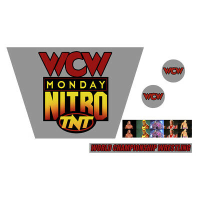 WWF/WWE Mattel Retro WCW Monday Nitro Custom Ring Stickers/Decals
