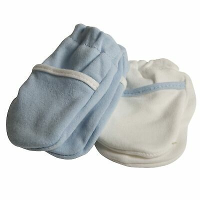 Safety 1st Mittens No Scratch Blue & White - 2 Pack