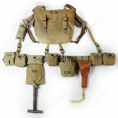 WWII WW2 US Army Soldier Military Field Equipment Full Set M1 Paratrooper
