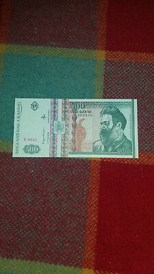 A 500 Lei Banknote from Romania