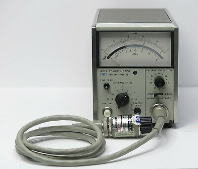 HP / Keysight 432A Analog Power Meter with HP 478A-H88 Thermistor Mount & Cable