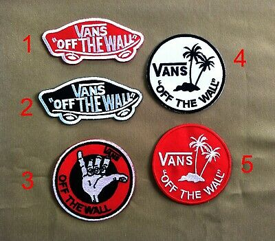 """Vans """"Off The Wall"""" Embroidered Iron-on Badge Patch Skateboard Applique"""