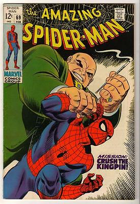 MARVEL Comics SPIDERMAN Amazing Silver age #69 Kingpin 1969 VFN- Spider-man