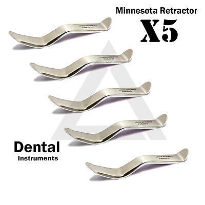 X 5 Dental Oral Surgery Instruments Minnesota Lip Cheek Retractors Depressor CE