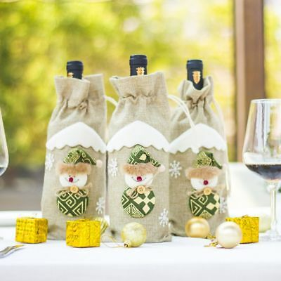 Christmas Decoration Funny Party Table Decor Wine Bottle Cover Christmas Gifts