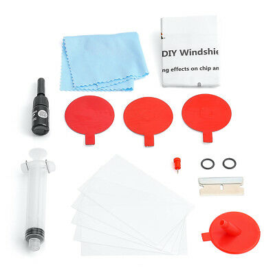 Set of Windscreen Windshield Repair Tool DIY Cars Kit Wind Glass For Chip  Crack