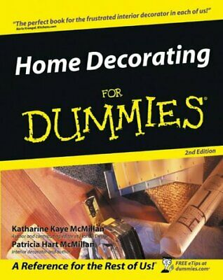 Home Decorating For Dummies by Patricia McMillan New Paperback / softback Book