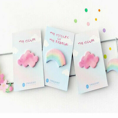 Rainbow Cloud Memo Pad Sticky Notes Memo Notebook Students Stationery Kids Gifts