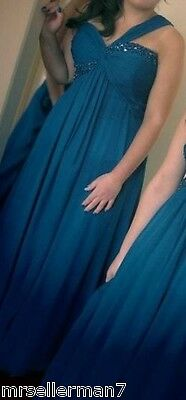 Royal Blue Formal Prom Dress Size 18