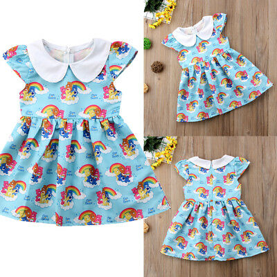 2019 Newborn Kids Baby Girls Clothes Cartoon Dress Sundress Cotton Outfit