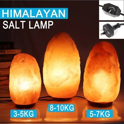 NEW 3-10kg Natural Crystal Rock Himalayan Salt Lamp Night Light Dimmer Switch