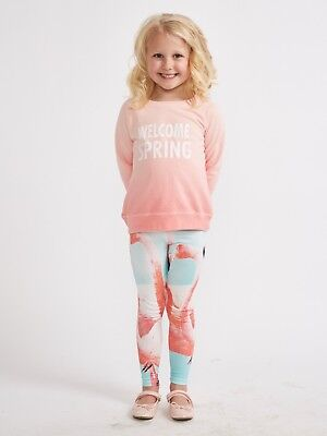 Girls Flamingo Leggings - Cute NWT Size 6-7