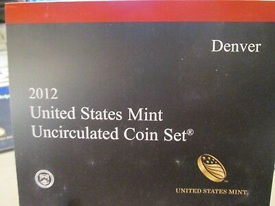 2012 Us Mint Uncirculated Coin Set Denver & Philadelphia  28 Coins