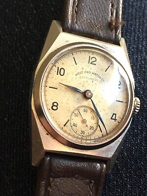 Vintage West End Watch Co Secundus Wrist Watch 1930s 40s Art Deco Swiss Working
