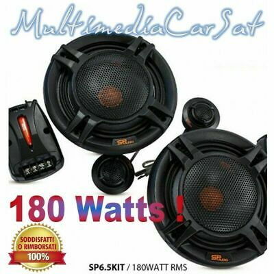 SP Audio Kit Altoparlanti 2 Vie 180 Watts RMS 360 W Max Woofer Tweeter SP6.5KIT