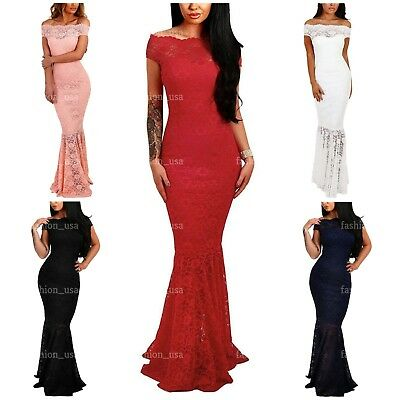 Elapsy Womens Shinny Ruched Thigh Slit Off Shoulder Dress Evening Party Dresses