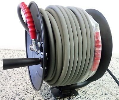 HOSE REEL PRESSURE WASHING COMPLETE WITH 60 MTs  6000 PSI HOSE