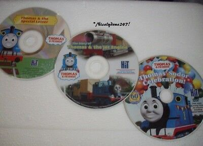 THOMAS AND FREINDS SET OF 3 DVDS Thomas & the Special Letter,Thomas & the Jet..