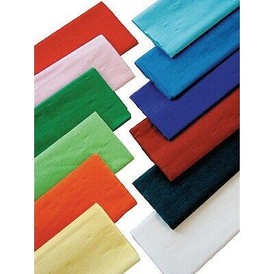 Crepe Paper Art Crafts Gift Wrapping Pastel Bright Metallic Colours