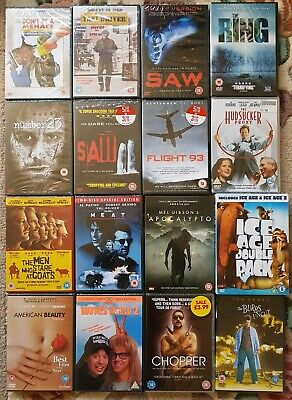 DVD JOB LOT - 16 DVDs - NEW AND SEALED - 17 MOVIES PAL REGION 2