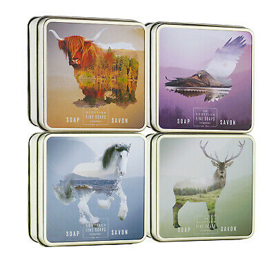 The Scottish Fine Soaps Company - Set of 4 Scottish Wildlife Soaps in Gift Tins