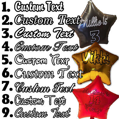 """Personalised Foil Balloon Star 20"""" Message Name Birthday Party Decorations Age"""
