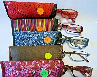0a18bfaabb27 Lot of 5 Foster Grant-Magnivision +1.75   2.25   2.50 Women s Reading  glasses