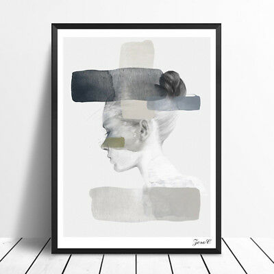 BL_ Nordic Girl Portrait Poster Print Canvas Pictures Home Decor Wall Art Painti