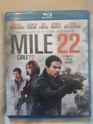 Mile 22 (Blu-Ray, 2018, RARE Canadian version WITH FRENCH)