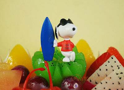 Peanuts Snoopy and Friends Joe Woodstock Rock Star Pilot Cake Topper Figure Set6