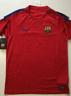 Nike Men s Barcelona Football Dry Squad Graphic Top Shirt New With Tags  Large d3e7ff313f1