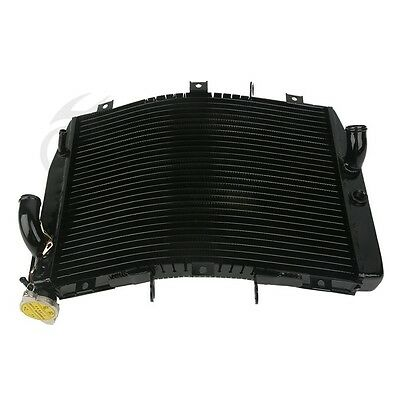 Black Radiator Cooler Cooling for Kawasaki ZX6R ZX-6R ZX 6R 1998-2002 99 00 01