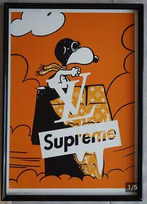 DETH NYC Snoopy × supreme × Vuitton Poster 2018 limited 100 Size 450×320mm Rare