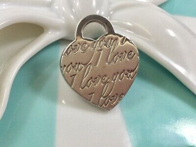 Amore!! Tiffany & Co Sterling Silver Heart Medium Notes Pendant