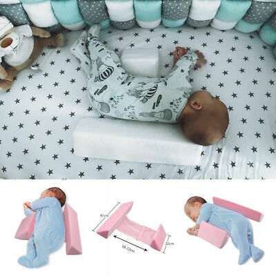 Infant Baby Newborn Sleep Pillow Support Wedge Anti-Roll Prevent Flat Head Tools