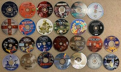 LOT OF 25 old Windows Computer/PC Games (late 90s-early 2000s, $2 per game)