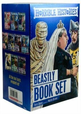 Horrible Histories - Beastly Book Set  10 Books *FREE P&P*