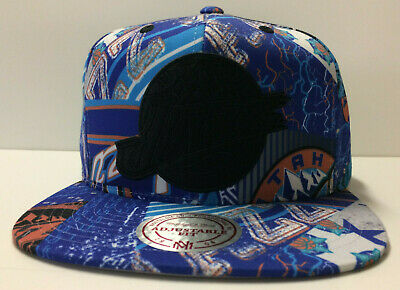 info for a1ee9 7ab67 Utah Jazz Mitchell   Ness Snapback Hat Paysage Sublimated HWC Retro Cap