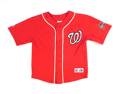 Majestic Ryan Zimmerman Washington Nationals Jersey sz YOUTH S SMALL Red MLB 6a0e862ba