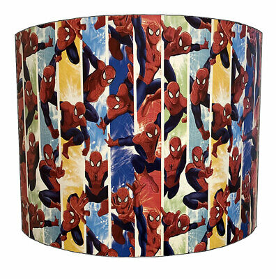 Spiderman Lampshades, Ideal To Match Spiderman Wallpaper & Duvet Covers.