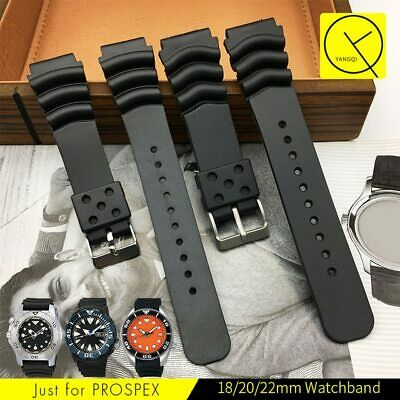 Silicone Watchband Strap For Seiko SKX171 SKX173 SBBN013 SRP777J1 SRP581J1 +Tool