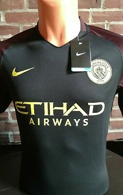 aad8ca90 Authentic Nike 2016/2017 Manchester City Away Jersey Kun Aguero #10 Nwt  Size M