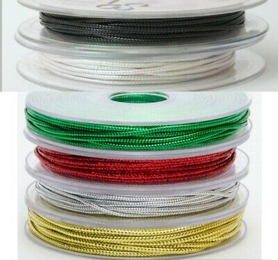 2mm Metallic Gold, Silver & Red craft Lurex Rope - 20 meter roll ONLY £3.99