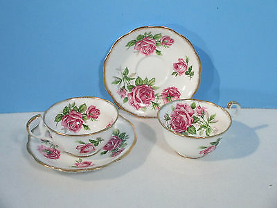 Royal Standard Cup Saucer Orleans Rose Vintage Bone China England 2 Sets 4pcs