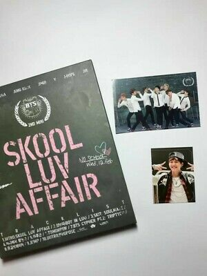 BTS [SKOOL LUV AFFAIR] 2nd Mini Album CD Photobook & Photo card.