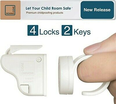Roving Cove | Magnetic Cabinet Locks Child Safety | Safe Lock | Baby Proofing, C